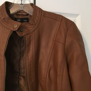 Baccini Jackets & Coats - Baccini light brown faux leather jacket
